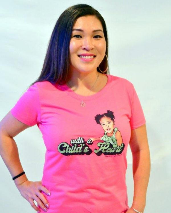 childs heart t-shirt